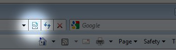 IE8 Compatibility Mode button highlighted